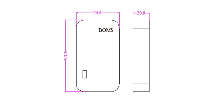 蓄电池监测模块产品尺寸规格